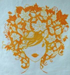"Картина ""Девушка Осень"""