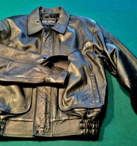 Кожаная куртка и жилетка