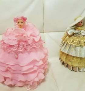 Кукла шкатулка ручная работа