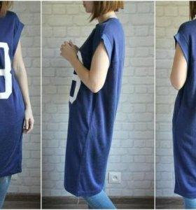 ❤Домашнее темно-синие платье размера M.❤