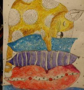 Картина акварель