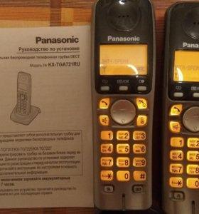 Телефон panasonic с аон модель dect KX-TGA721RU