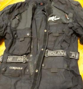 Мото куртка с утепл подстежкой