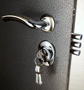 дверь с покрытием п-ка +панель ламината