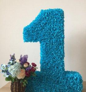 Цифра 1 для украшения Дня Рождения и фотосессии.