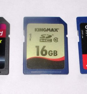 Карты памяти SDHC Class 10 16GB