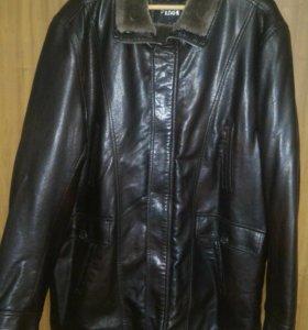 Новая кожаная куртка р.54
