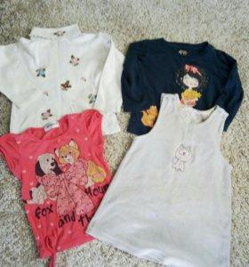 Вещи пакетом для девочки р 92