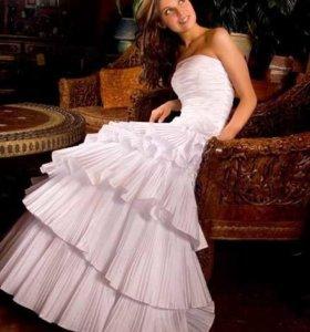 Свадебное платье для стройняшек.