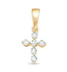 Детский крестик с бриллиантами