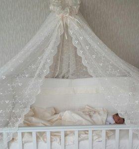 """Детская кровать белая """"Руслан"""""""