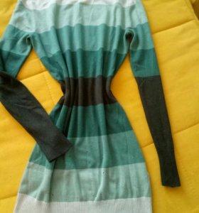 платье-туника xs(можно и беременным)