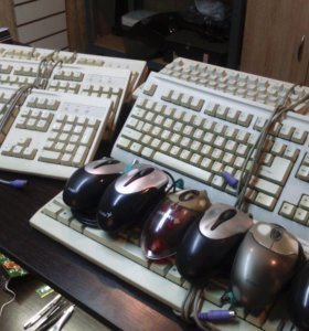 Клавиатуры, мыши.