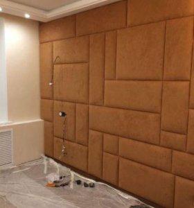 Мягкие стеновые панели для интерьера