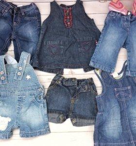 Детские джинсы, сарафаны
