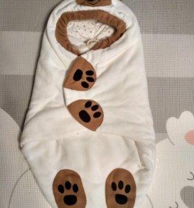 Теплый конверт- одеяло для новорожденного