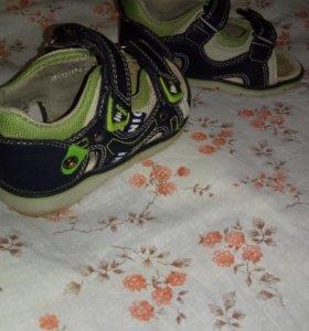 Кожаные сандалии (15 см)