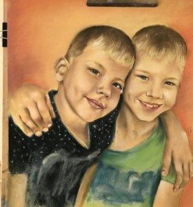 Портрет по фото. Подарок к 14 февраля