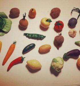 Овощи из полимерной глины для игр и развития