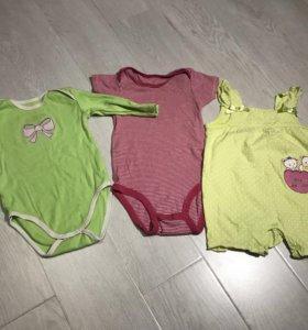 Пакет одежды на девочку 3-8 месяцев