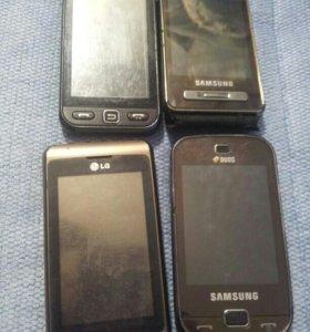 Телефон Samsung сенсорные