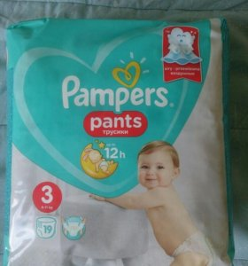 Новая упаковка Трусики Pampers 3 (19 шт)