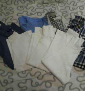 Рубашки и водолазки на мальчика. 10-12 лет.