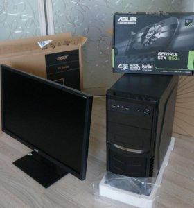 на Гарантии GeForce 1050 ti 4GB + Core i5