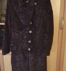 Пальто под каракуль осеннее