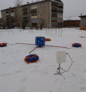 "Аттракцион зимняя карусель ""Снежинка"""
