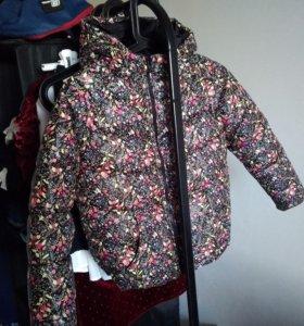 Утепленная куртка для девочки 134