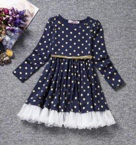 Новое платье с поясом