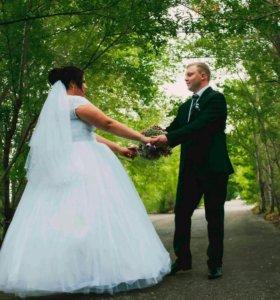 Продам свадебное платье и фату