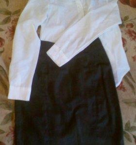 Блузка+юбка.