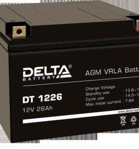 Аккумулятор Delta DT 1226 12В 26 Ач