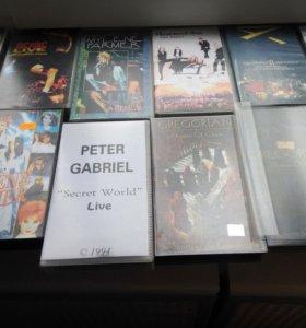 коллекция видеокассет концерты