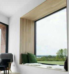 современные откосы на двери и окна