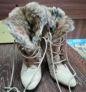 Натуральные замшевые ботиночки