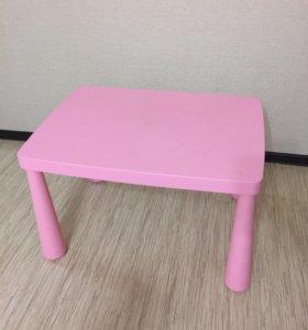 Стол маммут розовый