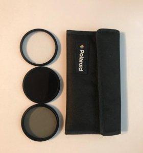 Набор из 3 фильтров Polaroid 58mm