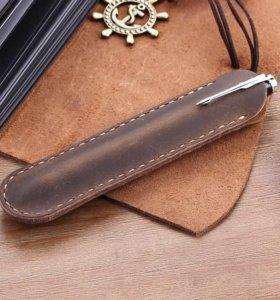 Чехол для ручки из натуральной кожи