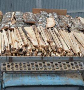 Продаю на дрова срезки и горбыль берёзовый
