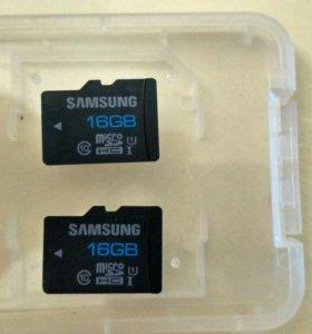 Микро SD Samsung 16 Gb