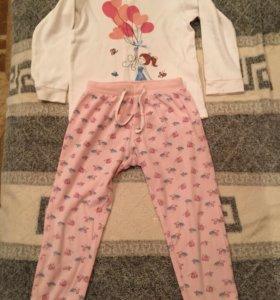 Пижама для девочки р. 98-104