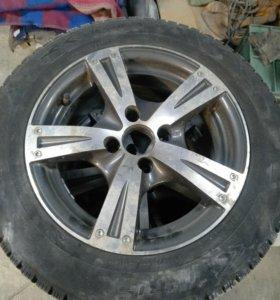 Зимние колеса на литых дисках r14