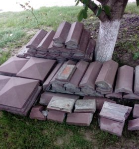 Колпаки на забор бетонные