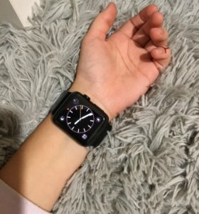 Apple Watch 42mm Case 316L Space Black Stainless