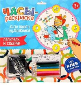 """Новые Часы-раскраска """"Любимой бабушке"""", 25 см."""