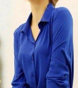 Рубашка шифоновая женская