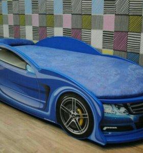 Кровать Машинка Audi Синяя Доставка